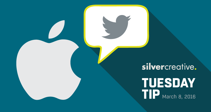 Tuesday Tip Of The Week #158 – Apple Brings Customer Service to Twitter